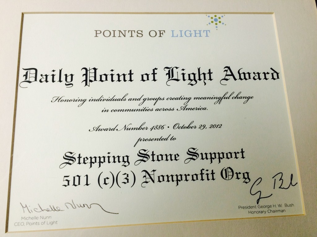 Daily Points of Light SSS Award 2012
